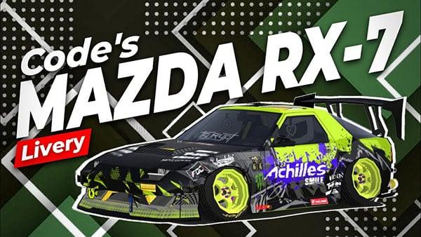 FR Legends Mazda RX-7 Livery Achilles