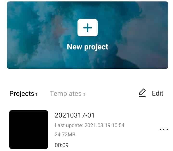Klik-menu-New-Project
